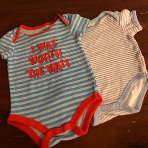 Two 0-3 month Onesies